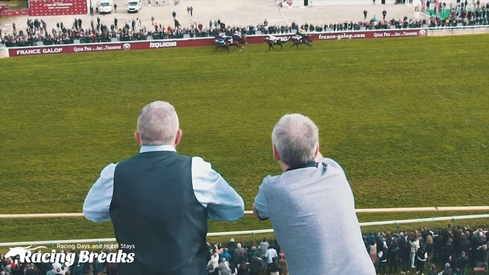 Horses racing at ParisLongchamp