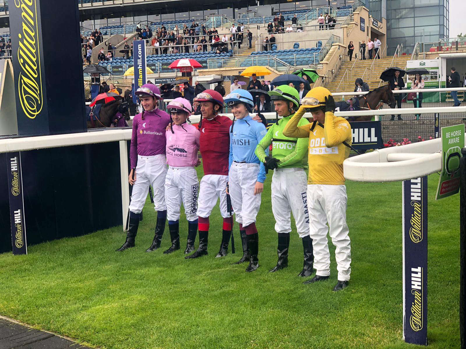 Racing League jockeys at Doncaster for week two