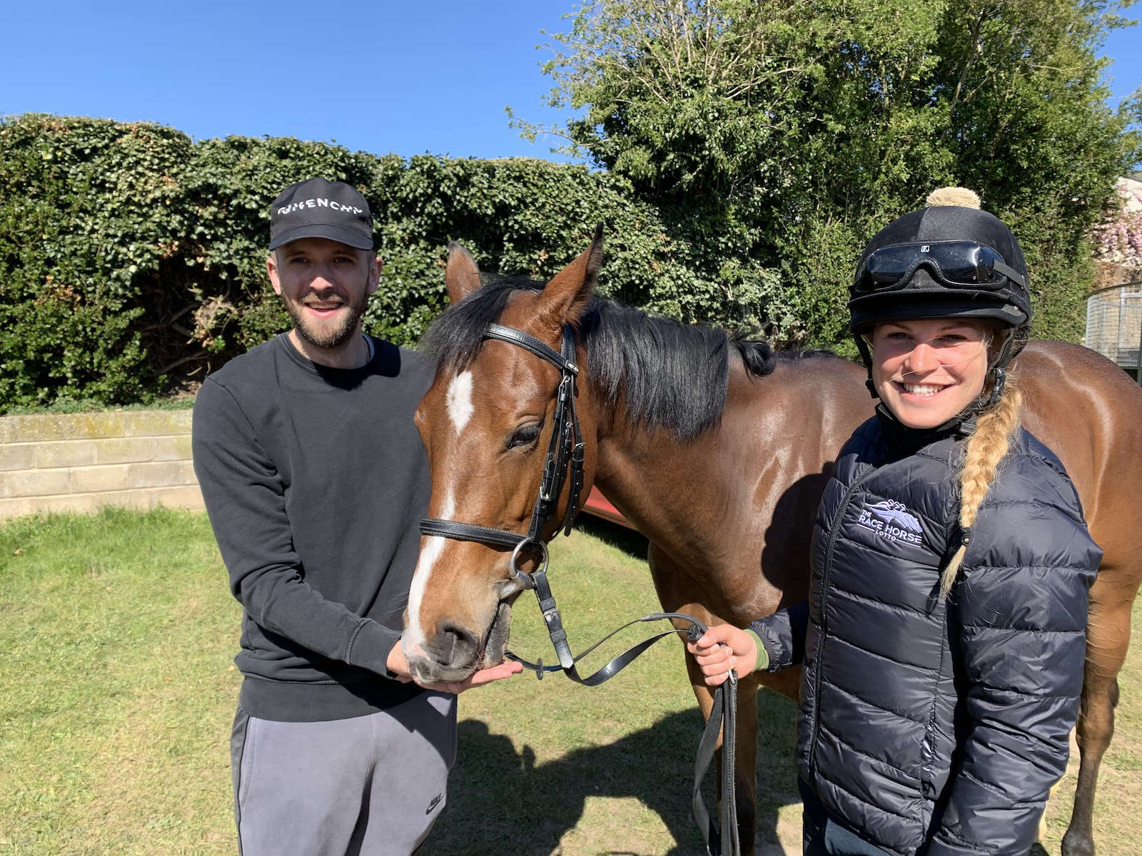 Tony with his horse, Jen's Gift