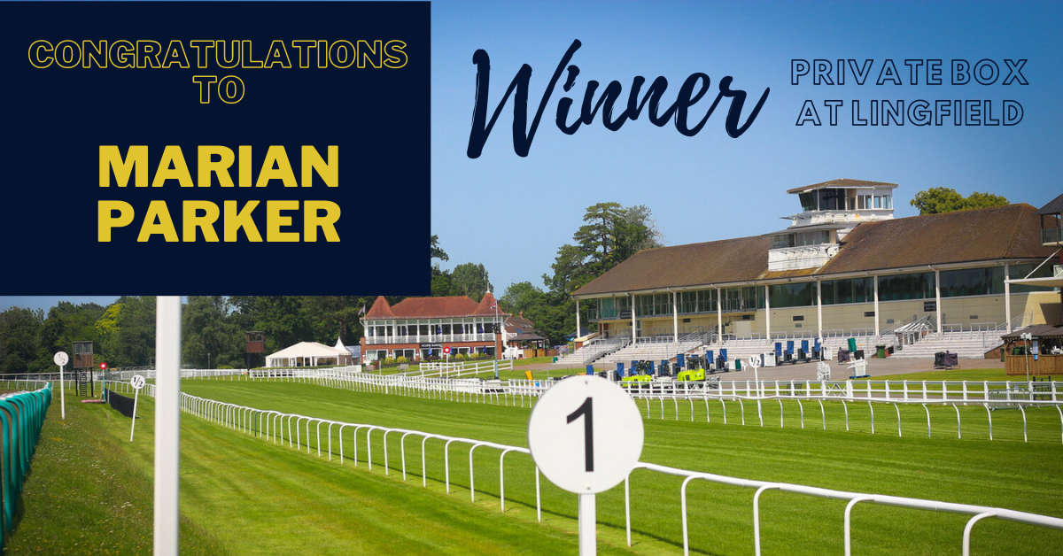 Winner of the Lingfield Park hospitality box competition - racing league